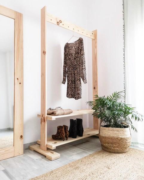 perchero artesanal madera utilez