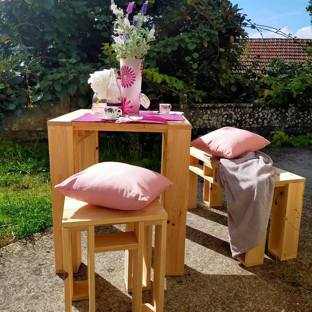mueble de madera para jardín